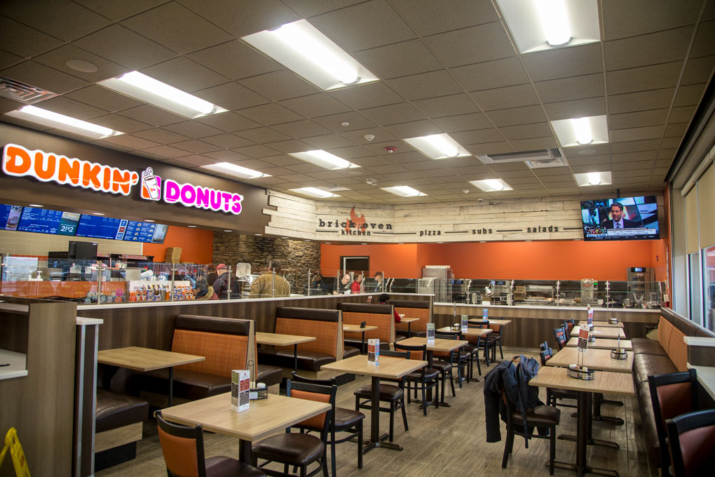 Dunkin' located inside Delta Sonic.